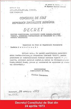 Decretul privind constituirea RIFIL